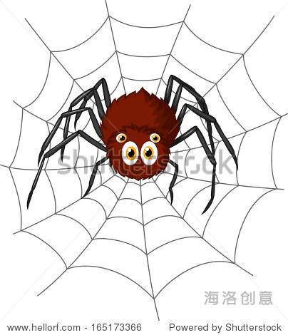 卡通可爱的蜘蛛 - 动物/野生生物 - 站酷海洛创意正版