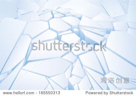 碎冰蓝色.矢量图