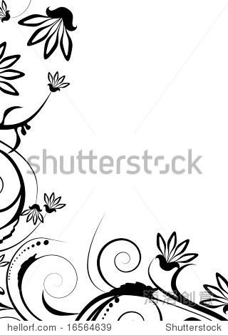 黑白插图设计装饰 - 背景/素材,插图/剪贴图 - 站酷