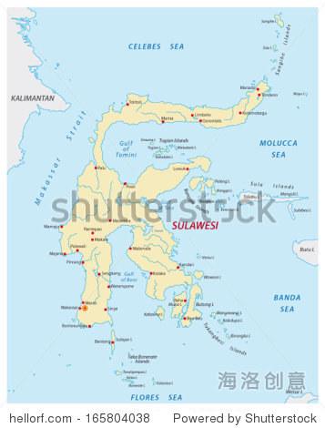 苏拉威西岛地图-交通运输-海洛创意正版图片