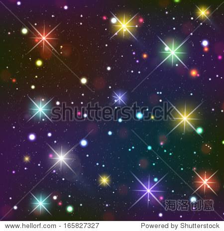 星空 黑暗的背景,发光的影响 背景 素材,假期 站酷海洛创意正版