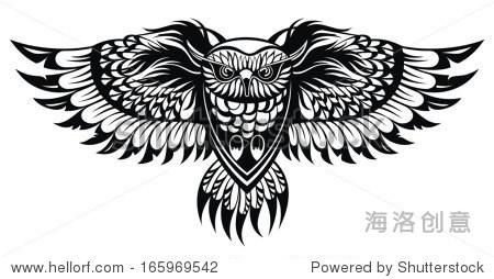 猫头鹰 - 动物/野生生物,符号/标志 - 站酷海洛创意