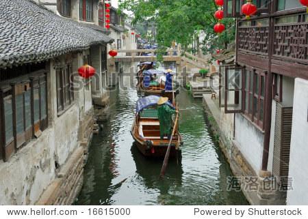 China,Shanghai water village Zhouzhuang