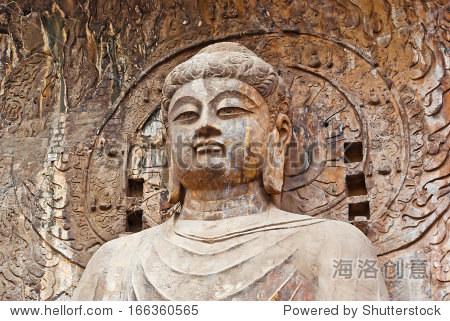 The Big Vairocana of Longmen Buddha Grottoes. Luoyang, China