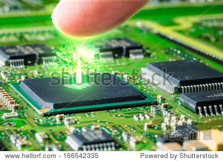 手指触摸电路板和辉光pcb树