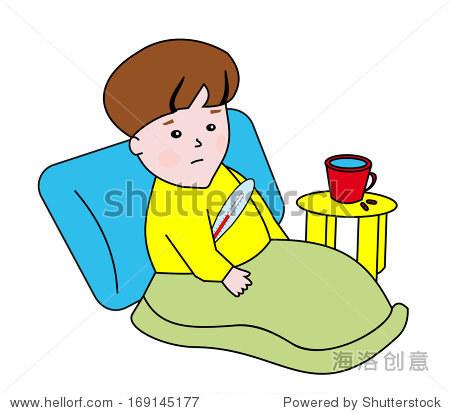 生病躺在床上表情包分享展示图片