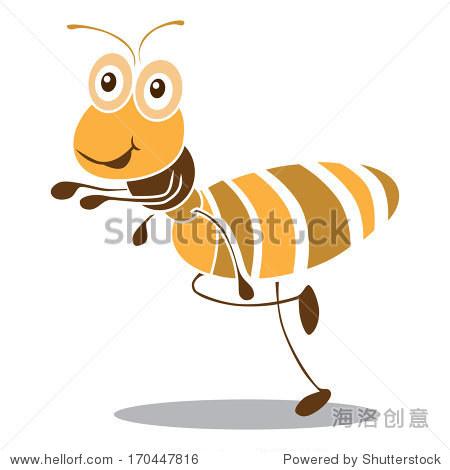 非常可爱的蚂蚁卡通向量.