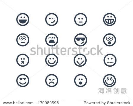 微笑的图标-符号/标志-海洛创意正版图片图片