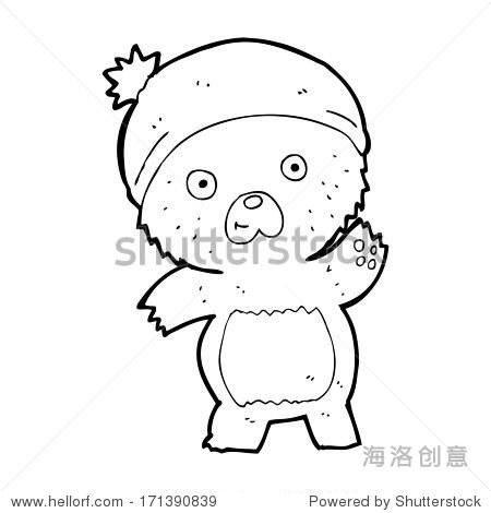 可爱的卡通的泰迪熊