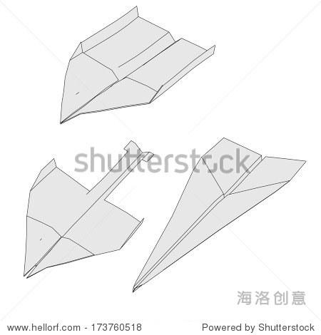 纸飞机的卡通形象
