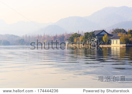 Landscape of Xihu Lake in morning, Hangzou, China