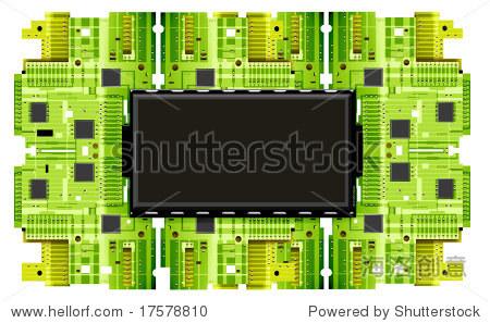 电子电路板 - 插图/剪贴图