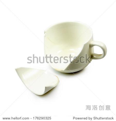 破碎的杯子简笔画