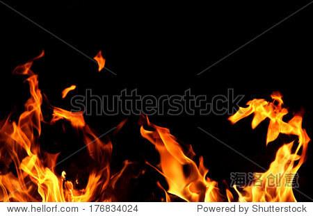 火和火焰的黑色背景 - 背景/素材,抽象 - 站酷海洛,,.