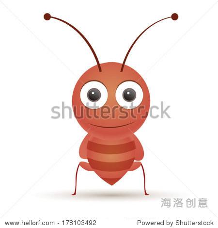 矢量图的可爱动物,蚂蚁.