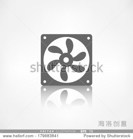 计算机冷却风扇图标 - 物体,符号/标志 - 站酷海