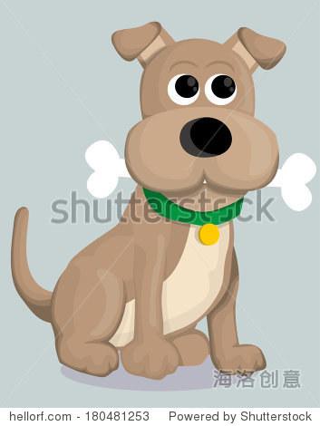 可爱的卡通狗骨头