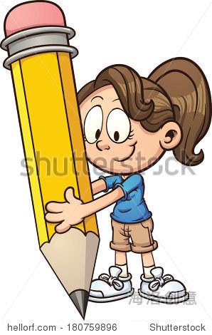 简单的梯度向量剪贴画插图 所有在一个层 教育 站酷海洛创意正版