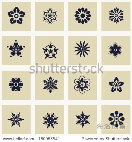 你是复活独一真神歌谱-设置简单的形状的花朵 简单的元素和符号 轮廓为你设计 符号 标志 站
