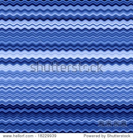 蓝色波浪线抽象模式背景.
