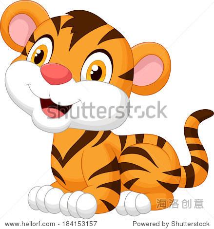 卡通可爱的小老虎
