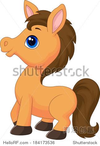 卡通可爱的马 - 动物/野生生物