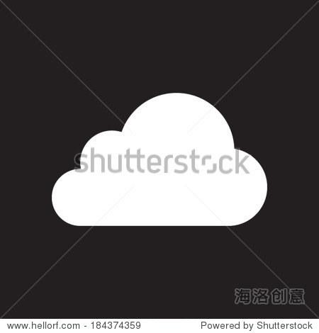 云图标,矢量图.平面设计风格
