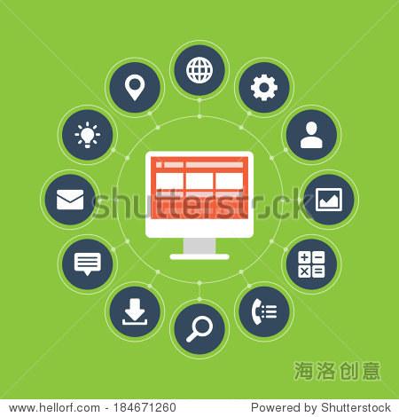 business and social media design. design template.图片