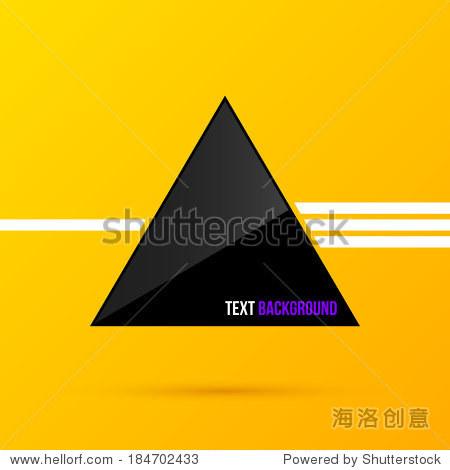 黑色三角形文本背景.eps10-商业/金融,物体-海洛创意