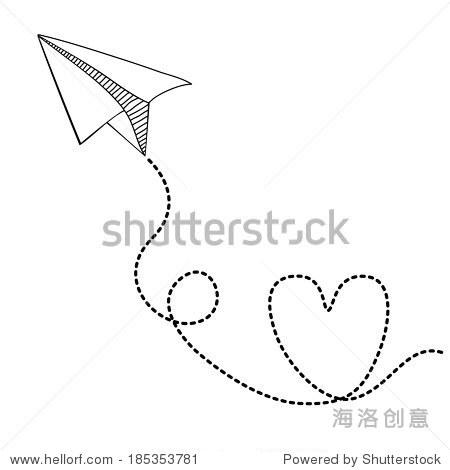 纸飞机设计在白色背景
