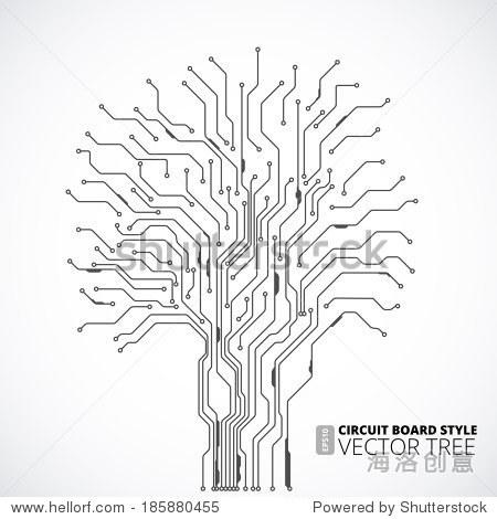 电路板树背景 - 背景/素材,科技 - 站酷海洛创意正版