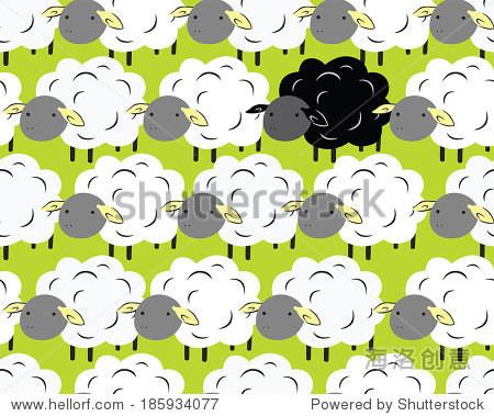 一个害群之马在白色的羊