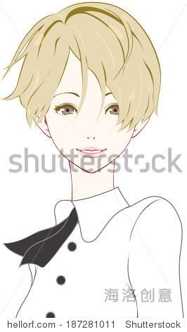 女人的微笑-人物,美容/时装服饰-海洛创意正版图片图片