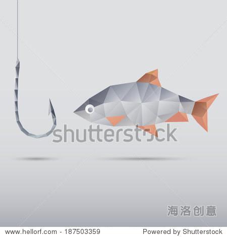 鱼和钩用三角形 - 动物/野生生物,抽象 - 站酷海洛,,.