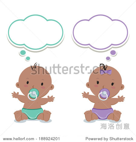 可爱的婴儿奶嘴和思考泡沫.-物体