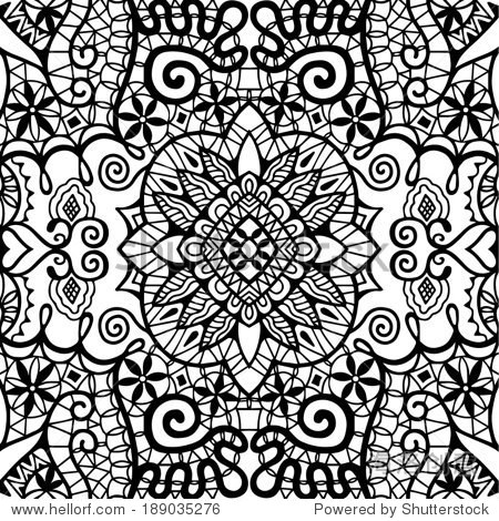 lace fabric seamless pattern design element hand图片