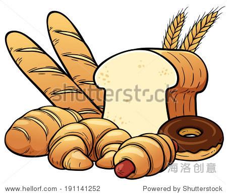 矢量图的面包
