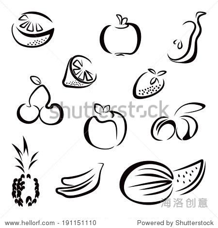 水果的符号-食品及饮料-海洛创意正版图片,视频,音乐
