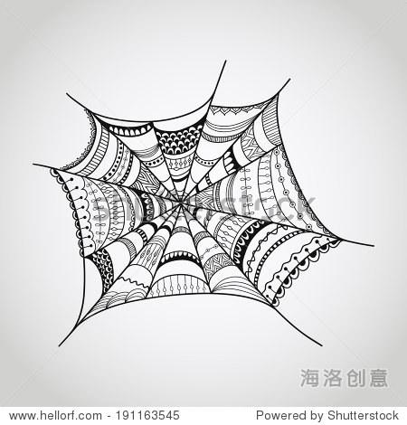 画蜘蛛素描步骤