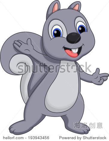 卡通可爱的松鼠