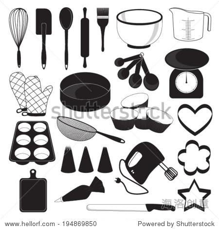 烘焙工具图标设置-食品及饮料,符号/标志-站酷海洛,,.