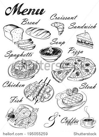 食品图片简笔画