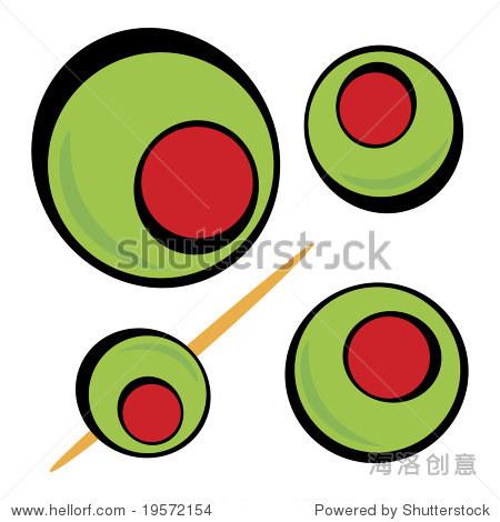 色橄榄 伟大的剪贴画马提尼图形或餐厅饮料菜单 食品及饮料,物体