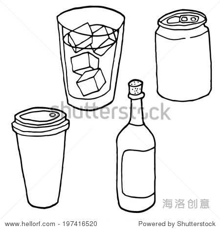 卡通饮料杯子简笔画