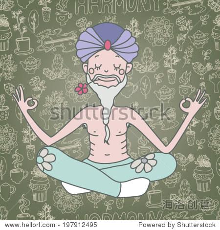 和谐向量瑜珈 - 物体,人物 - 站酷海洛创意正版图片