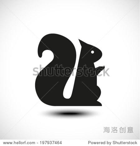 松鼠剪影——向量 - 动物/野生生物,符号/标志 - 站酷