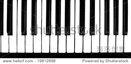 钢琴的黑白键