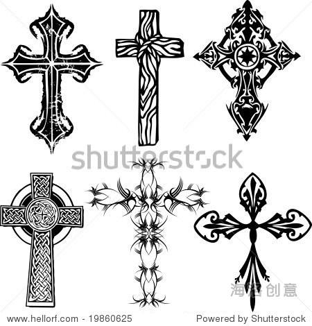 几个十字架向量 - 符号/标志,交通运输 - 站酷海洛,,.