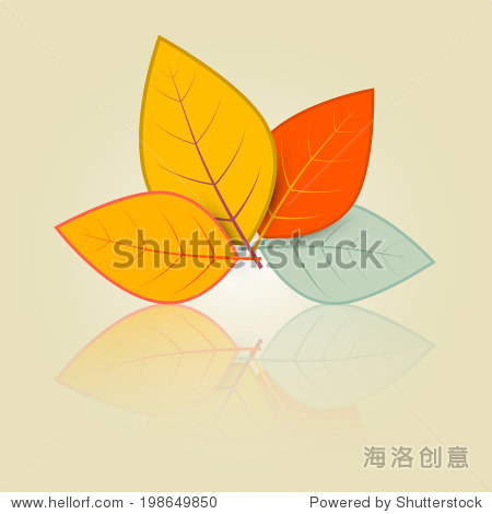 树叶在复古风格设置说明
