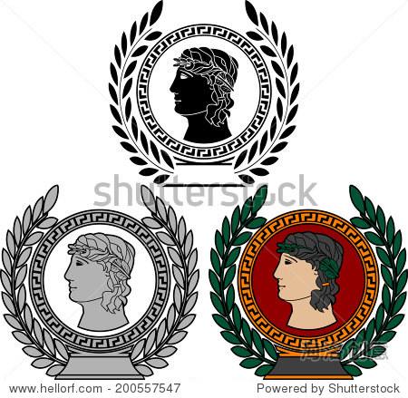 古希腊人的荣耀.矢量图